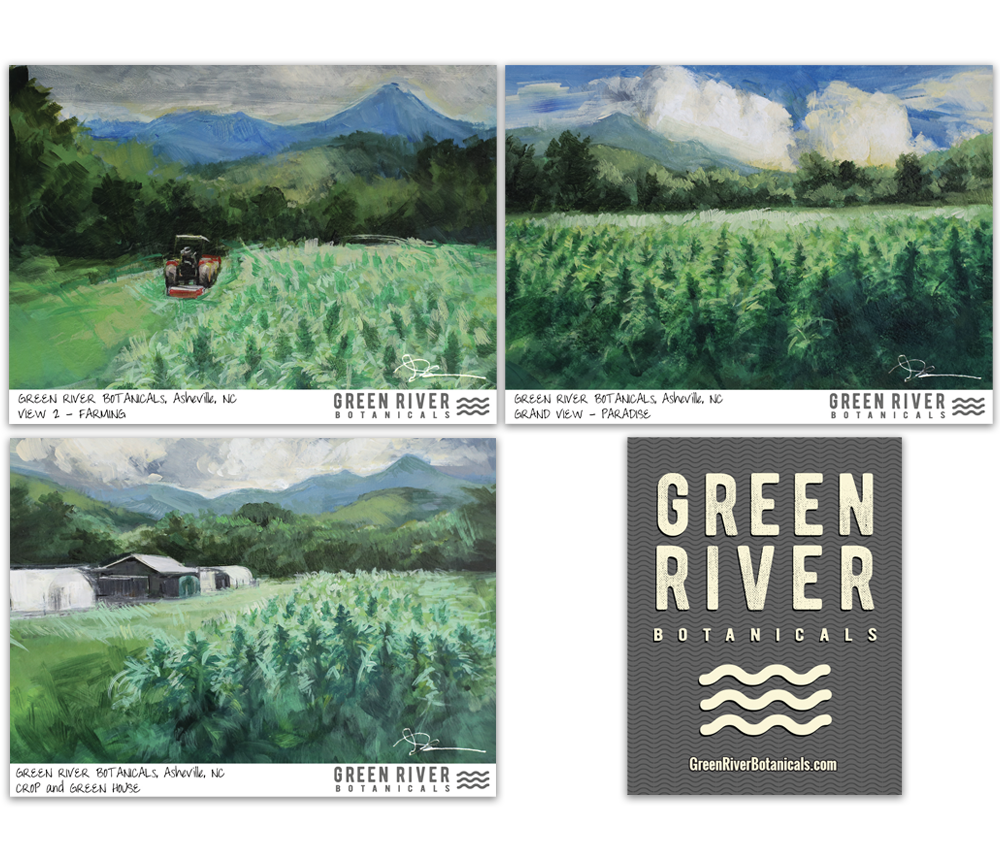 Greeb River Botanicals farm stickers
