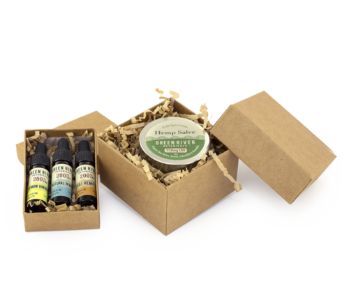 Green River Botanicals Hemp Oil and CBD Salve Gift Box