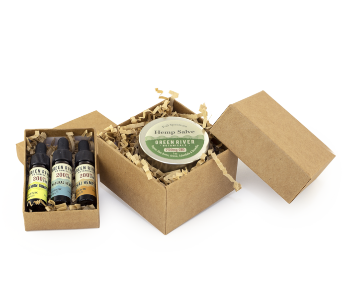 Hemp Oil and CBD Salve Gift Box