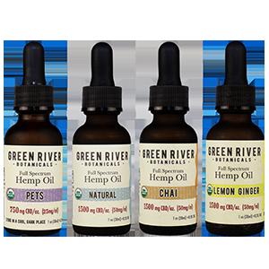Green River Botanicals Organic Hemp Oil Flavors