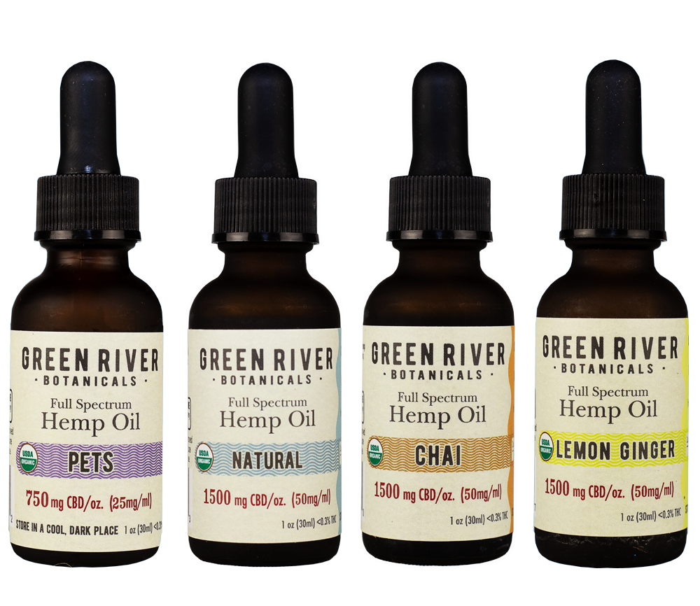 Green River Botanicals Organic Hemp Oil Flavors
